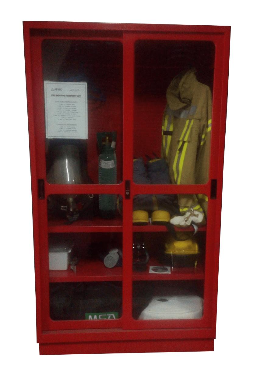 Fireman's Cabinet, sliding